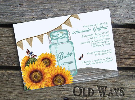 57 best Wedding InvitationsSunflower images on Pinterest