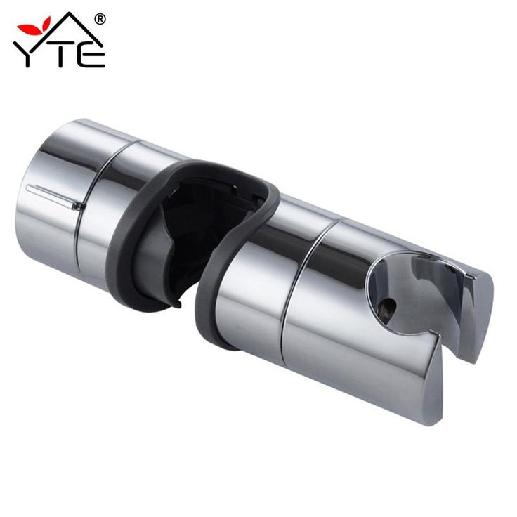 1Pc New Hand Shower Bracket 18-25MM ABS Replacement Rail Head Slider Clamp Adjustable Shower Holder Chrome Plated Bathroom Tools