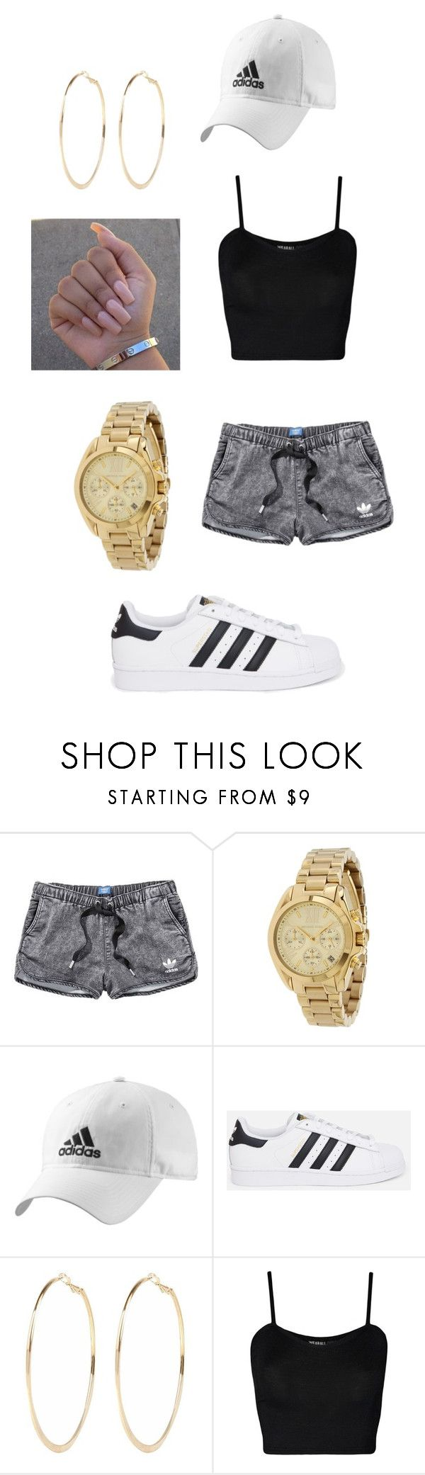 """""""Adidas"""" by vianamo on Polyvore featuring adidas, Michael Kors, adidas Originals, River Island and WearAll"""