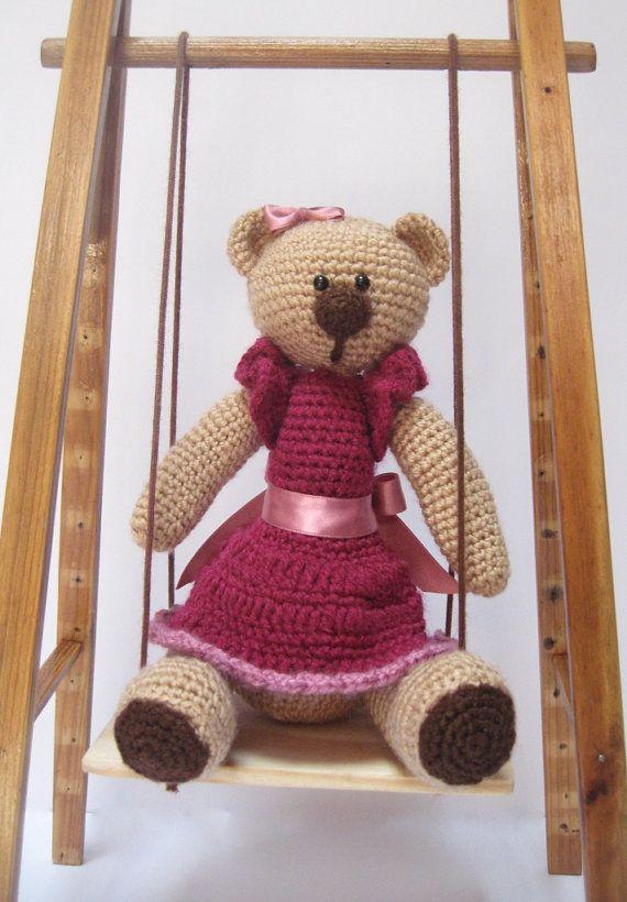 Cute Bear with Dress PATTERN Amigurumi Teddy by FairyDustPatterns