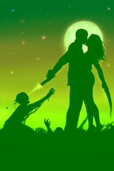 Zombie Lovers Art Print