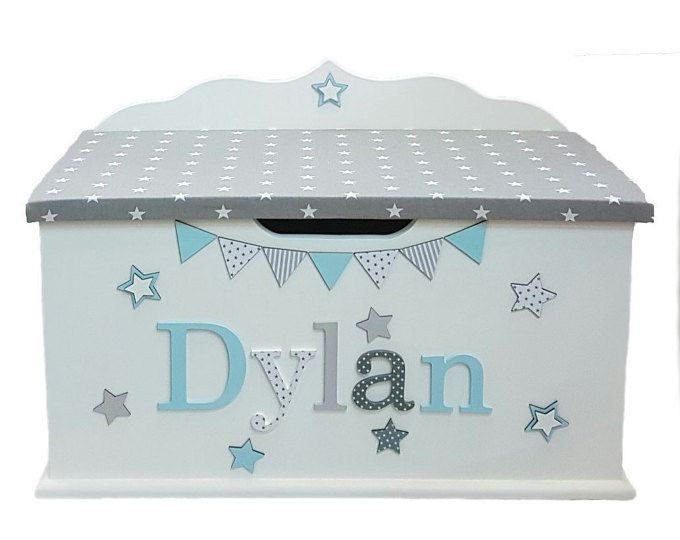 Personalised Toy Box Bespoke Wooden Toy Box Large Toybox Girls Boys Children Princess Toy Chest Glitter Kids Personalised Toy Box Wooden Toy Boxes Toy Boxes