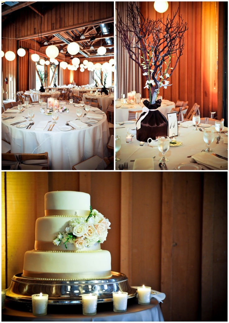 The Cake Looks So Elegant And I Love That The Centerpieces