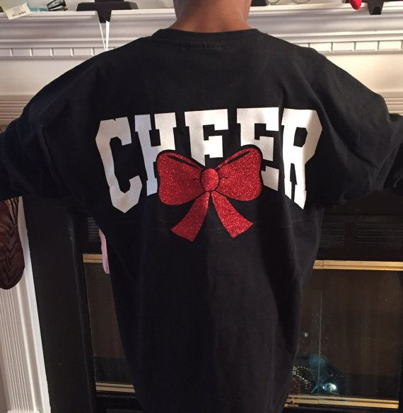 Monogrammed oversized Shirt Spirit Cheer Shirt Cheerleader shirt Mother cheer shirt Children shirt Kids Clothing Tie-bow shirt Girl shirt This oversized Spirit shirt is perfect for your cheerleader. It can be customized with any color combination. In the note section please leave your