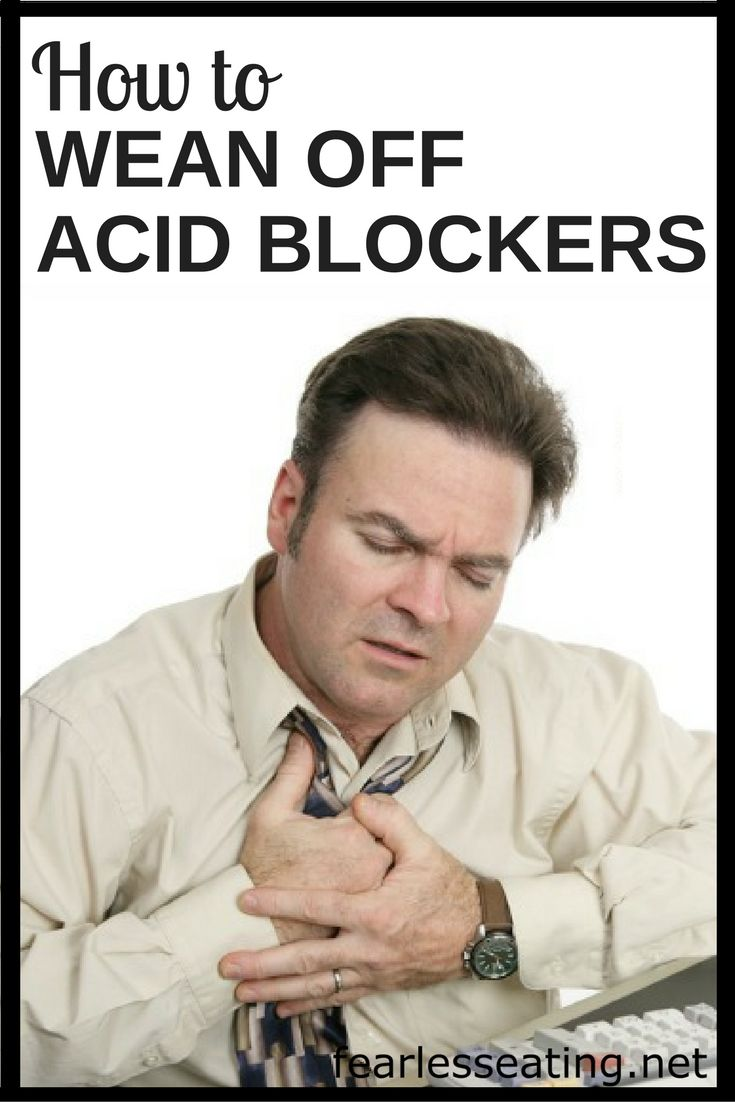 Many people report a worsening of symptoms when they stop taking acid blockers. In this case, one needs to wean off acid blockers in a very specific way.