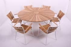 Rørvig Havemøbelsæt 150 cm med 6 stole