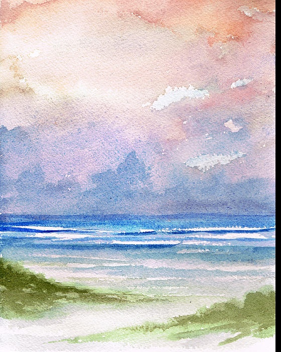 """Seashore Sunset""  Watercolor"