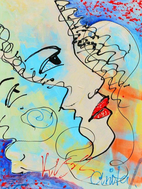 Kiss me to - Schilderijen met thema liefde