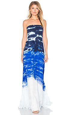 Batikolt, nyári hosszú ruha a kobaltkék és fehér árnyalataiban