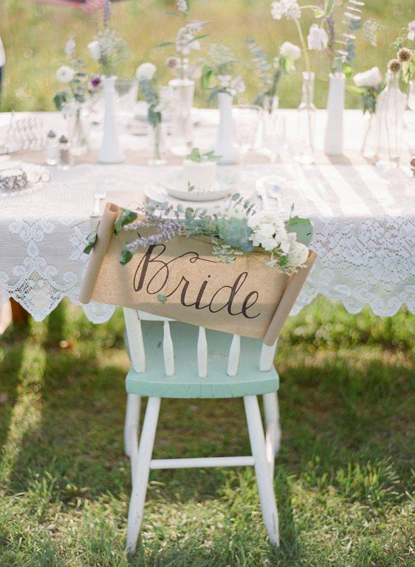 romantic chair back // photo by Hunter Photographic, styling by Baci Designers // http://ruffledblog.com/lavender-farm-elopement-shoot