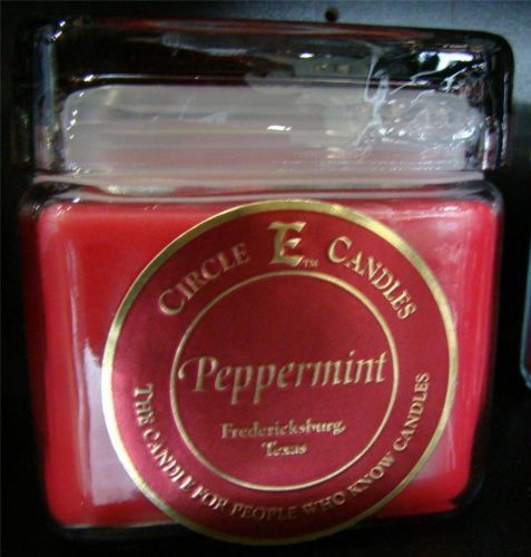New Circle E Candle Peppermint 28 oz Jar 165 Hours Burn Time Christmas Candy | eBay