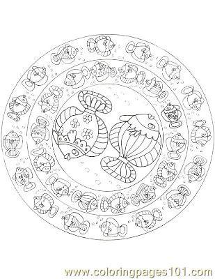 free printable coloring image Fish25