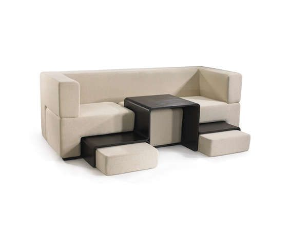 Tetris seating. Can move the table