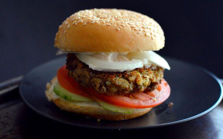 Cauliflower Lentil Burger [Vegan, Gluten-Free]   One Green Planet