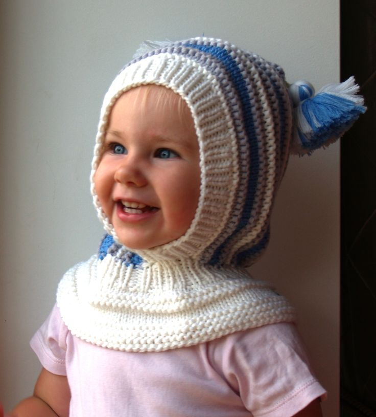 Hand knitted White Balaclava hat. Wool hoodie hat for baby, toddler and children. Made from white, blue and grey merino wool, Soft and very functional - perfect to keep the little ones warm and cozy during cold days           Size:6-12 Months  1-3 Years 3-6 Years 6-10 Years           Price: 39$
