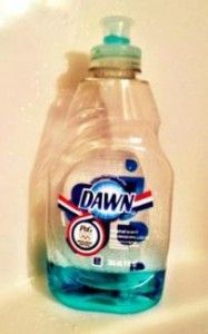 Dawn Shower Tip:    Once you have used most of the detergent washing your dishes, DO NOT THROW that bottle out! Fill it up with some hot water and shake well, and put it in your shower. Every few days when you are in the shower, squirt some around on the walls and wipe them down. It work GREAT, Smells delightful, and keeps you from having to use those caustic shower cleaners!