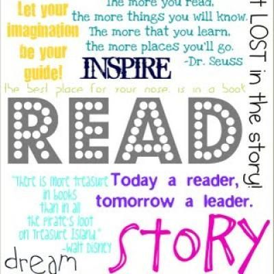 """Fantastic quotes (and it's a free printable!) about reading to post in your classroom!  """"Girl"""" and """"Boy"""" version..."""
