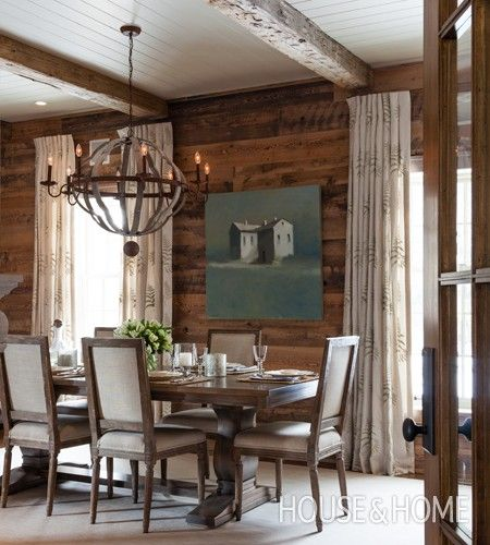 38 best images about dining room inspiration on pinterest for Rustic dining area