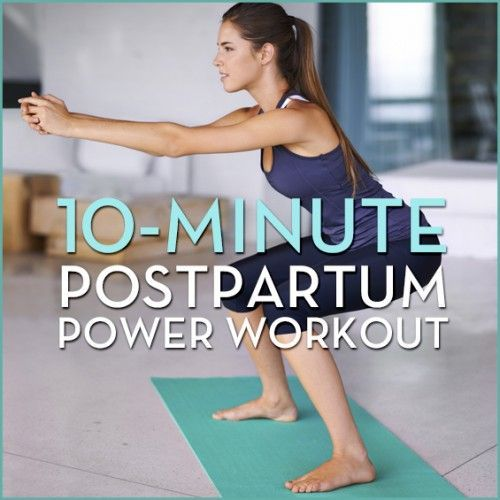 If the baby weight won't budge, give this 10-Minute Postpartum Power workout a try! #livelong http://gethealthyu.com/10-minute-postpartum-power-workout/