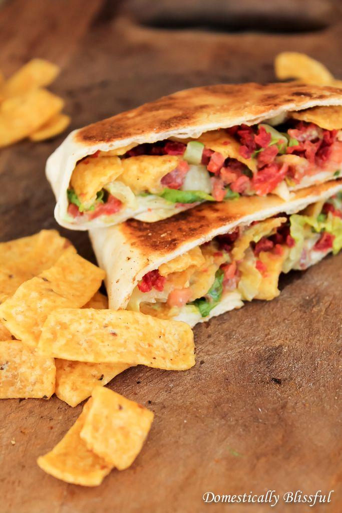 Vegetarian BLT Crunchwrap Slider