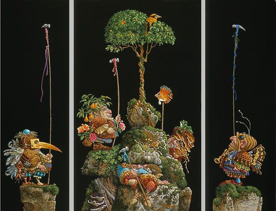 Six Bird Hunters in Full Camoflage by James Christensen
