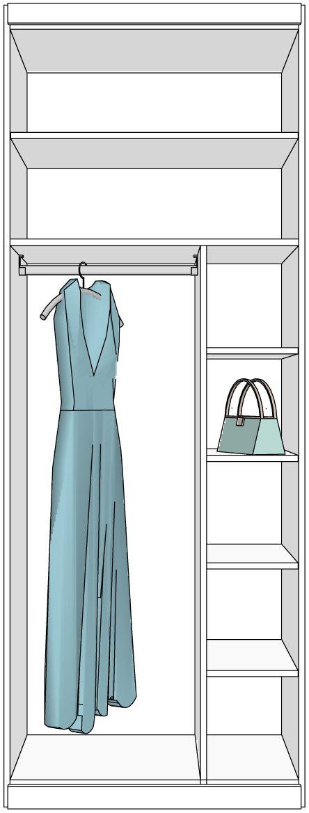 Popular Kleiderschr nke nach Ma mit verschiedenen Inneneinteilungen