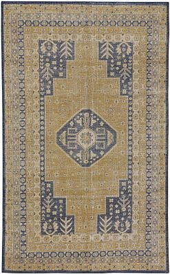 Bodrum Gold Navy Capel Rugs
