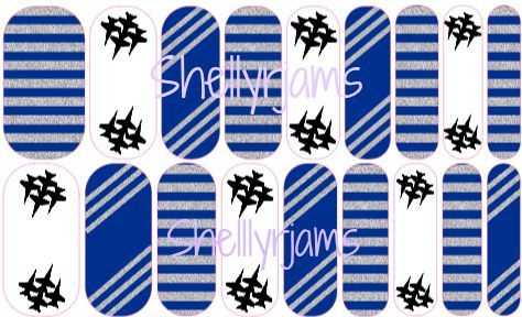 """Custom Jamberry Nail Wraps by ShellyRJams! Air Force Inspired """"Flying High"""". Email shellyrjams@gmail.com for ordering!"""