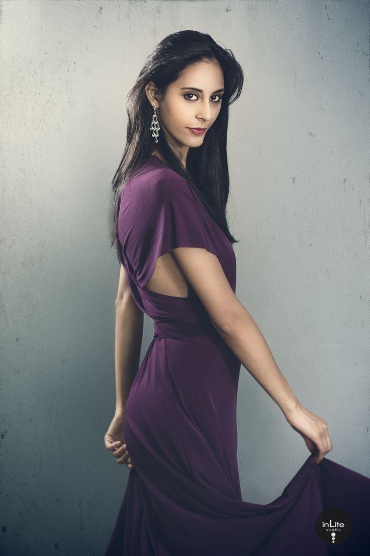 Megan purple dress