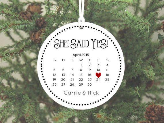 15 best newlywed newly engaged christmas ornaments for Engagement christmas tree ornaments