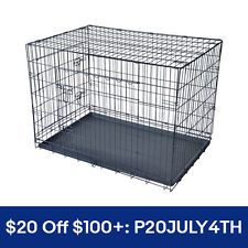 """[$39.99 save 61%] 42"""" 2 Doors Pet Folding Suitcase Dog w/Divider Cat Crate Cage Kennel w/Tray LC #LavaHot http://www.lavahotdeals.com/us/cheap/42-2-doors-pet-folding-suitcase-dog-divider/218992?utm_source=pinterest&utm_medium=rss&utm_campaign=at_lavahotdealsus"""
