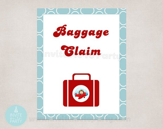 Baggage Claim printable sign poster 8 x 10 by InviteMe2Party