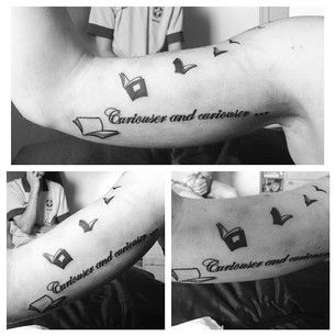 Alice's Adventures in Wonderland - 50 Incredible Tattoos Inspired By Books From Childhood love this