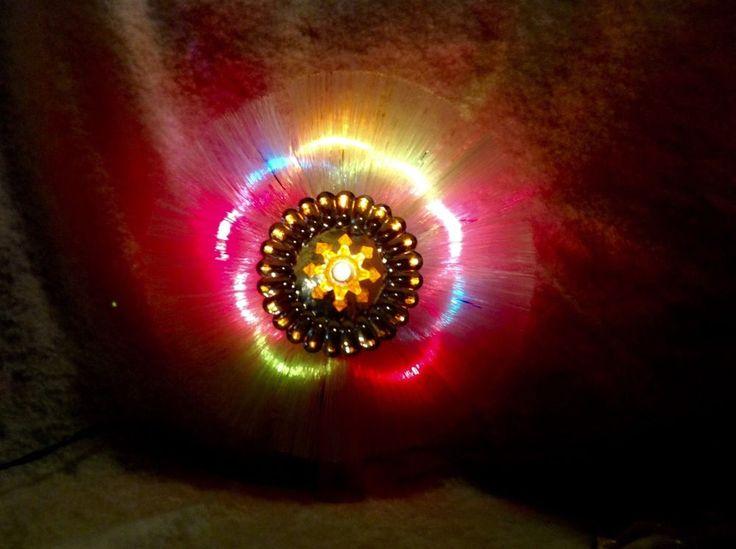Vintage Fiber Optic Christmas Tree Topper Light Show 7 Inch