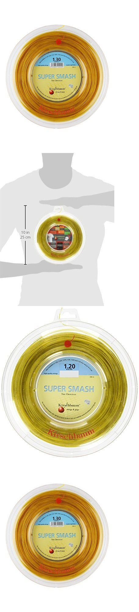 Other Racquet Sport Accs 159161: Kirschbaum Reel Super Smash Tennis String Optic Yellow 1.30Mm 16-Gauge, New -> BUY IT NOW ONLY: $86.1 on eBay!