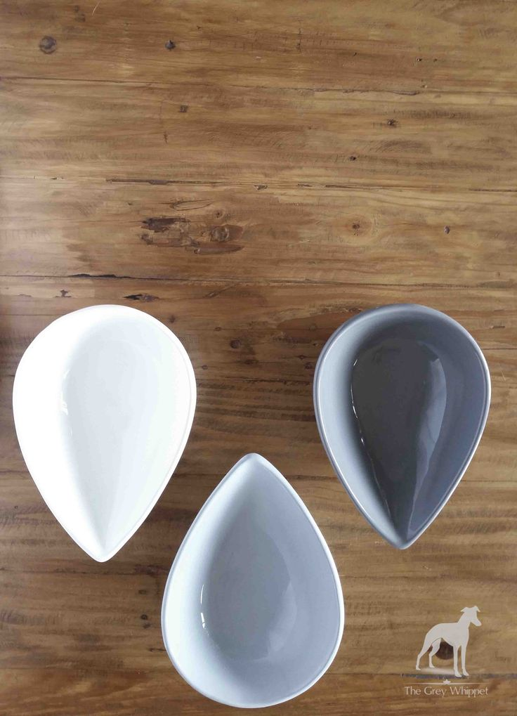 Ceramic bowls in white, grey and french blue 275mm l x 195mm w x 90mm h #homedecor #avo