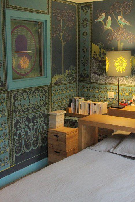 tapisserie sublime id es d co bleu pinterest vintage et recherche. Black Bedroom Furniture Sets. Home Design Ideas