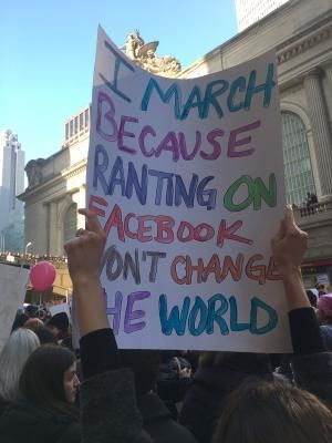 A must-see collection of clever and biting protest signs from the Women's March on Washington and sister marches around the world.: Marching vs. Ranting