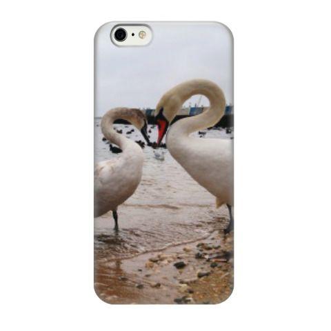 Чехол для iPhone 6 (от 957 рублей) Два лебедя и сердце. Крым, Феодосия. Автор фото - Ярмонтович Юрий