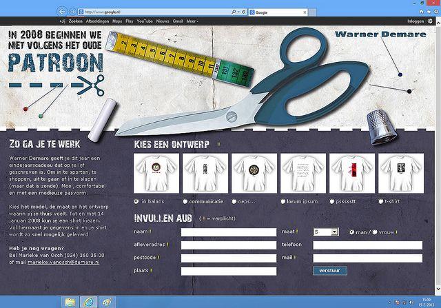 Hopontwerp: WD website T-Shirtkeuze