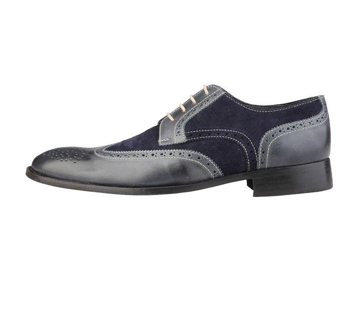 Scarpe da uomo Rochas. Stringate, blu, in pelle e camoscio. 100% vera pelle http://www.nandida.com/1414918504-53026-7362-dino1t-rochas-7362-dino1t-blu.html