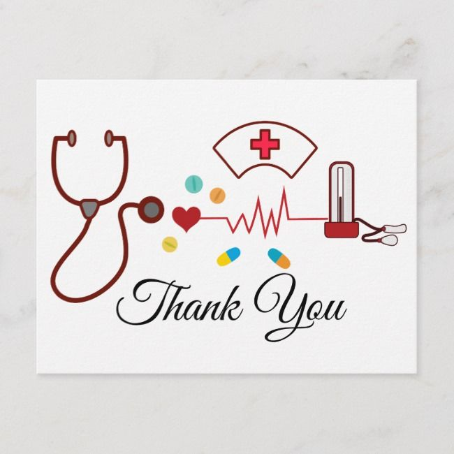 Doctor Nursing Medical Thank You Card Zazzle Com With Images