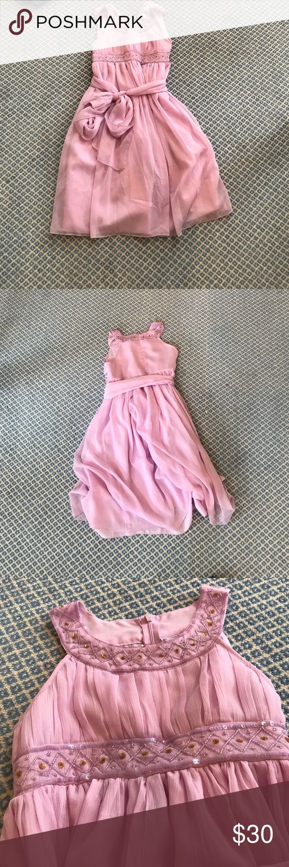 Cotton Kids Light Pink/Lavender Kids Dress. Size 10 Cotton Kids purple dress with smalls sparkles and gems. In fantastic condition. Cotton Kids Dresses Formal