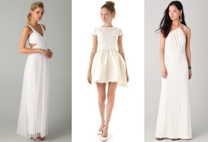 Wedding dresses from @shopbop! Who knew? The one on the far left :] works for me.