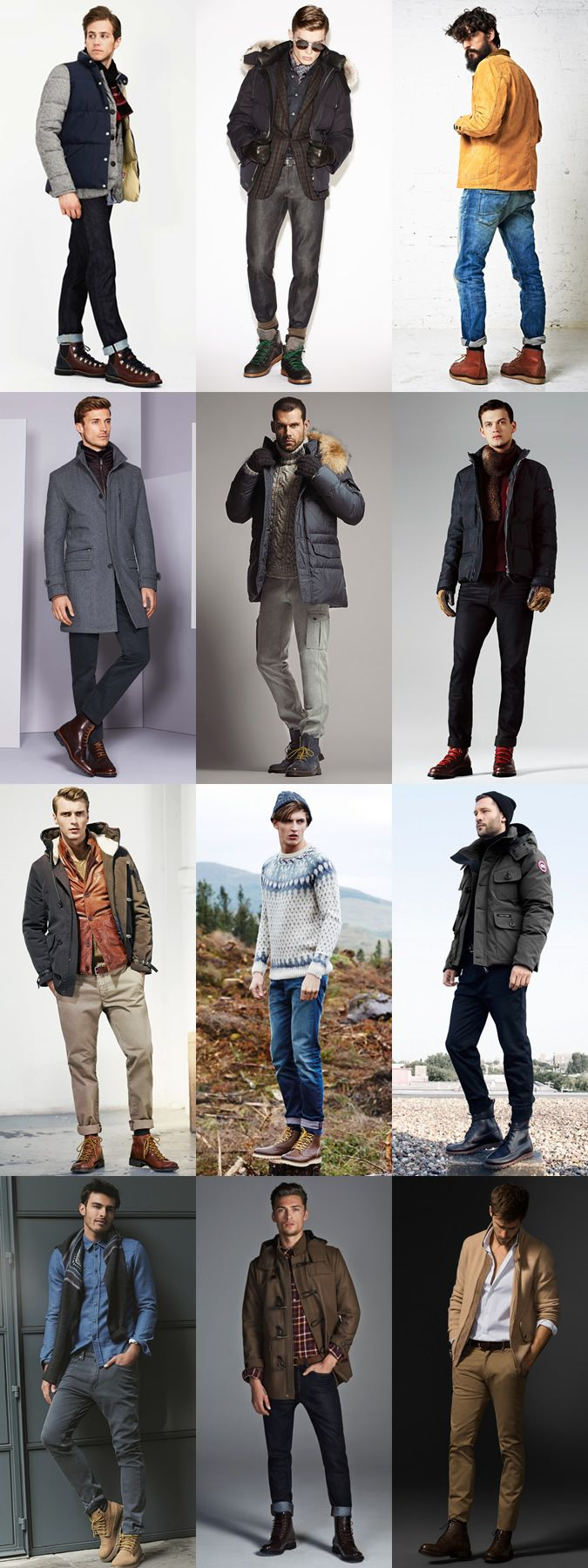 Men's Heavy Duty, Practical Outdoor/Hiking/Worker Boots - Autumn/Winter Outfit Inspiration Lookbook