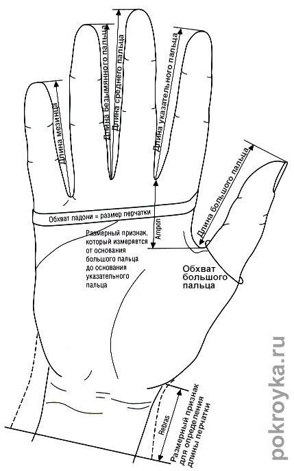 Выкройка перчаток   pokroyka.ru-уроки кроя и шитья