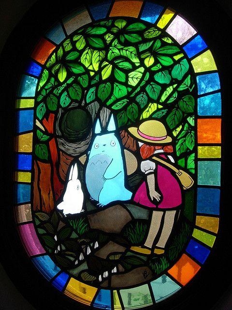 Totoro - vidriera Museo Ghibli