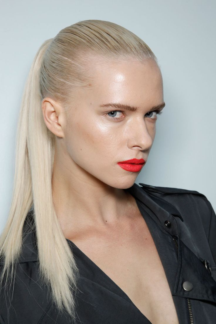 how to make hair look slick