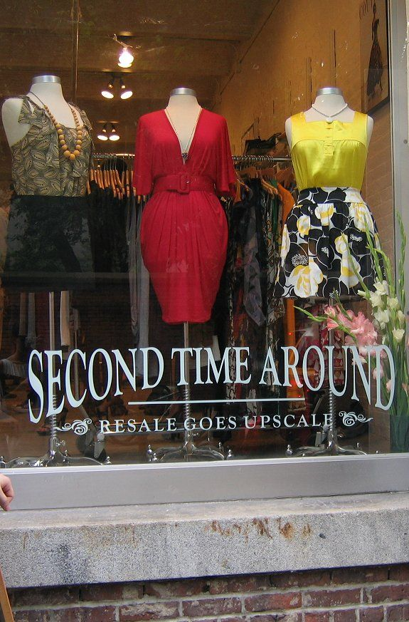 Second Time Around - consignment and second hand store. There are some great deals for buyers at these stores. But don't bother trying to consign your stuff there...