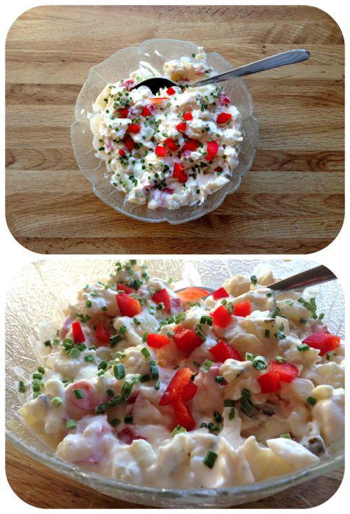Sunn og proteinrik potetsalat